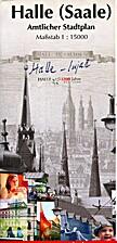 Halle (Saale). Amtlicher Stadtplan. Maßstab…