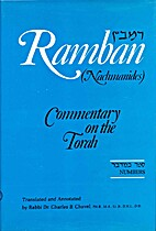 Ramban Commentary: Numbers by Rabbi Dr…