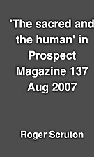 'The sacred and the human' in Prospect…