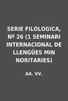 SERIE FILOLOGICA, Nº 26 (1 SEMINARI…