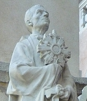 Author photo. Statue of St. Pierre Julien Eymard, Grenoble Cathedral. Photo by user Milky / Wikipedia