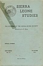 Sierra Leone Studies (New Series) - [Vol.…