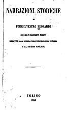 Narrazioni storiche : con molti documenti…