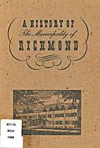 A history of the municipality of Richmond
