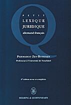 Petit Lexique Juridique. Allemand-Francais…