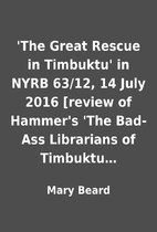 'The Great Rescue in Timbuktu' in NYRB…