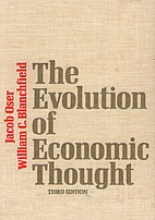 The Evolution of Economic Thought by Jacob…