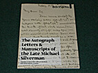 Autograph Letters & Manuscripts of the Late…