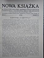 Nowa Książka R. I, z. 1