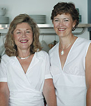 Author photo. Kathy Snowball (on left).  Allen and Unwin Media Centre
