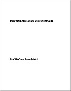 MetaFrame Access Suite Deployment Guide by…