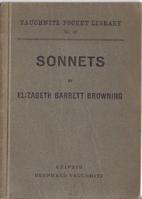 Sonnets by E.B.B. by Elizabeth Barrett…