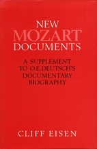 New Mozart Documents: A Supplement to…