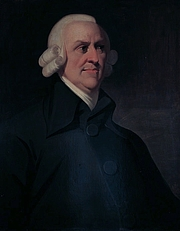 Author photo. Portrait of the political economist and philosopher Adam Smith (1723-1790) by an unknown artist, which is known as the 'Muir portrait' after the family who once owned it. The portrait was probably painted posthumously, based on a medallion by James Tassie.