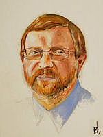 Author photo. Painting by Heledd Straker, 2007