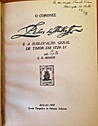 O Coronel Pedro de Mello e a sublevação…