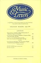 Music & Letters - vol. 80 Nr 2 by Nigel…