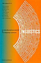 Linguistics 21 (1983) 3: 431-554