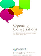 Opening conversations : developing a model…