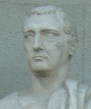 Author photo. Escultura del jurista romano Cayo (Caius en latin) colocada en la fachada del Tribunal Supremo de Madrid, España.
