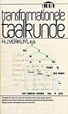 Transformationele taalkunde by Henk Verkuyl