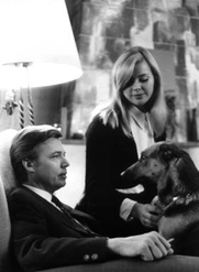 Author photo. Karlheinz Böhm with Barbara Lass and his dog / by Alfred Cermak / Photo © <a href=&quot;http://www.bildarchivaustria.at&quot;>ÖNB/Wien</a>