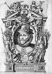 "Author photo. Frontispiece of Negri's work ""Nuove inventioni di balli"" 1604."