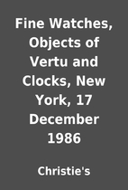 Fine Watches, Objects of Vertu and Clocks,…