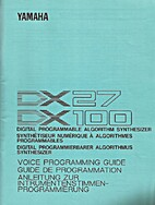 DX27/DX100 Voice Programming Guide (Yamaha)
