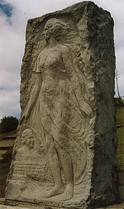 Author photo. Monumento a Alfonsina Storni Playa La Perla, Mar del Plata. Buenos Aires Argentina Enero 2006 Autor de la fotografía: Martín Gardeazabal