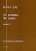 24 Preludes for Piano Vol.2 by Hans Gál