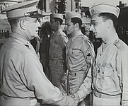 Author photo. Philip J. Corso (right) U.S. Army, 1945 (Wikimedia Commons)