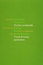 Dat het zo hoorde by Tsead Bruinja