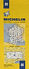 Michelin: Rodez - Nimes, map no. 80 by…