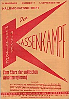 Der Klassenkampf. 5. Jahrgang. Nummer 17. 1.…
