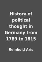 History of political thought in Germany from…
