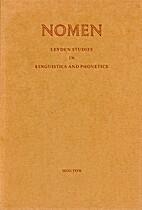 Nomen : Leyden studies in linguistics and…