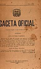 Gaceta Oficial: Ciudad Trujillo, 3 de…
