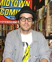 Author photo. Comic book creator Matt Fraction at Midtown Comics Times Square in Manhattan. Photo by Luigi Novi.