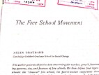The free school movement by Allen Graubard