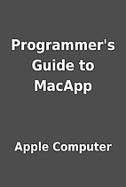 Programmer's Guide to MacApp by Apple…