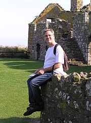 Author photo. Dr. Graeme Dunphy at Dunnotar Castle in Schotland