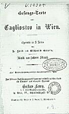 Gesangs-Texte aus: Cagliostro in Wien :…