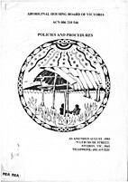 Polices and Procedures- Aboriginal housing…
