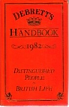 Debrett's handbook : distinguished people in…