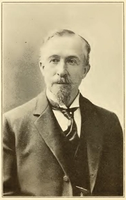 Author photo. George C. Stebbins. Portrait from page 202 of Biography of Gospel song and hymn writers (1914) by Jacob Henry Hall