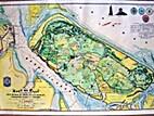 Kaart van Texel met ingedijkte polders.…