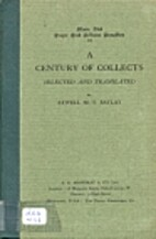 A century of collects by Atwell M. Y. Baylay