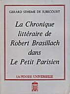 La Chronique littéraire de Robert…