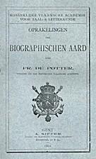 Oprakelingen van biographischen aard by…